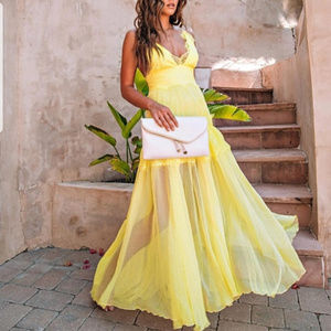DRESS FORMAL GOWN GLAMOROUS CHIFFON DRESS